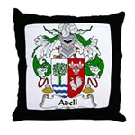 Adell Family Crest  Throw Pillow