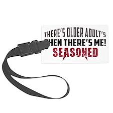 """""""Seasoned"""" Senior Adult Luggage Tag"""