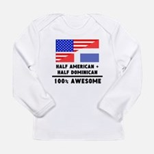 Half American Plus Half Dominican Long Sleeve T-Sh