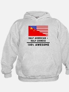 Half American Plus Half Chinese Hoodie