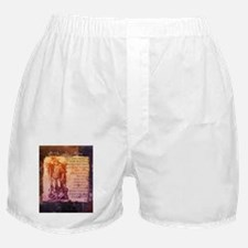 St. Michael Prayer in Latin Boxer Shorts