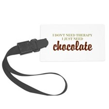 Chocolate Therapy Luggage Tag