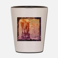 St. Michael Prayer in Latin Shot Glass