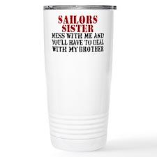 Unique Navy grandma Travel Mug