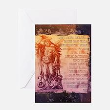 St. Michael Prayer in Latin Greeting Cards