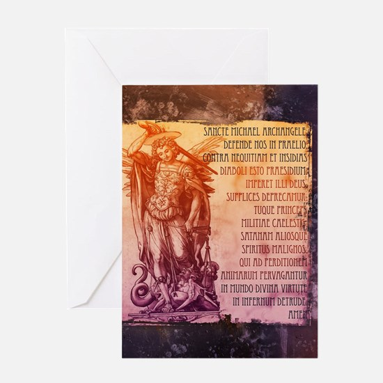 St. Michael Prayer in Latin Greeting Cards