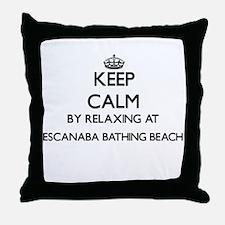 Keep calm by relaxing at Escanaba Bat Throw Pillow