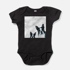Dog 128 Boston Terrier Baby Bodysuit