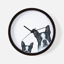 Dog 128 Boston Terrier Wall Clock