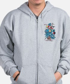 GOTG Rocket Drawing Zip Hoodie