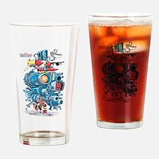 GOTG Rocket Drawing Drinking Glass