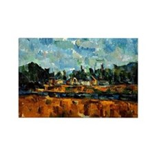 Cezanne painting, Riverbanks Rectangle Magnet