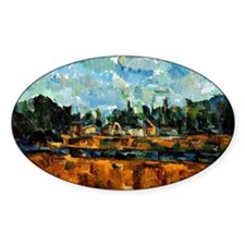 Cezanne painting, Riverbanks Decal
