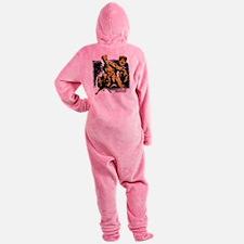 GOTG Rocket Groot Grunge Footed Pajamas