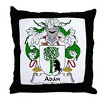 Adan Family Crest Throw Pillow