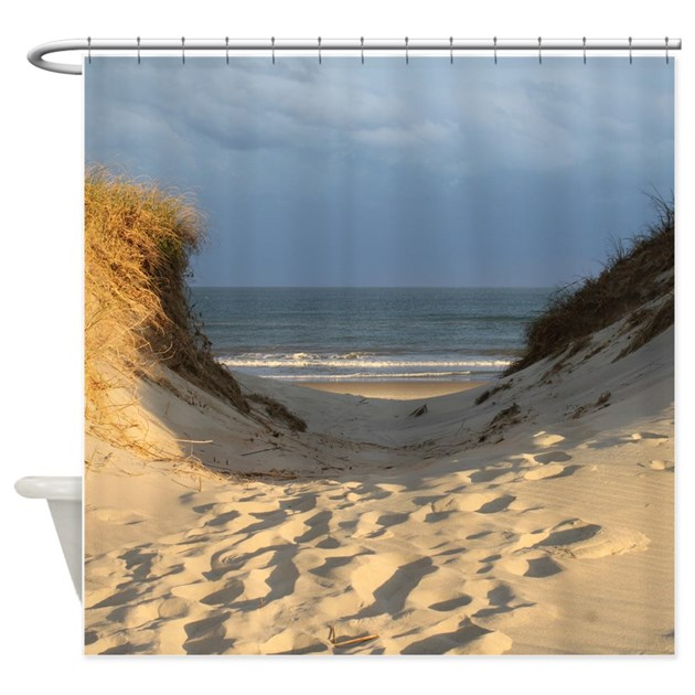 beach scene shower curtain by simpleshopping