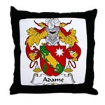 Adame Family Crest Throw Pillow
