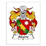 Adame Family Crest Small Poster