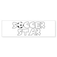Soccer Star Bumper Bumper Sticker