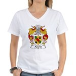 Acurio Family Crest Women's V-Neck T-Shirt