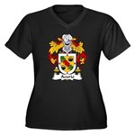 Acurio Family Crest Women's Plus Size V-Neck Dark