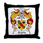 Acurio Family Crest Throw Pillow