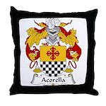 Acorella Family Crest Throw Pillow