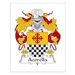 Acorella Family Crest Small Poster