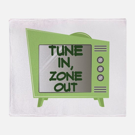 Tune In Zone Out Throw Blanket