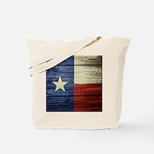 Texas Flag on Wood Tote Bag