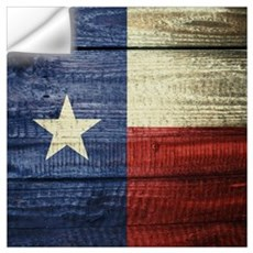 Texas Flag on Wood Wall Decal