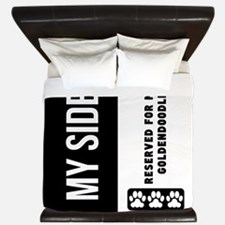 Reserved For My Goldendoodle King Duvet