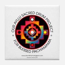 Ayllu Sacred Drum Project Tile Coaster