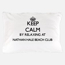 Keep calm by relaxing at Nathan Hale B Pillow Case