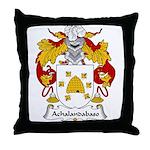 Achalandabaso Family Crest  Throw Pillow