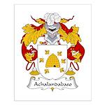 Achalandabaso Family Crest  Small Poster
