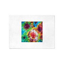 Tie Dye Pattern 5'x7'Area Rug