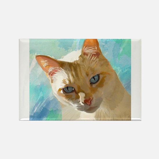 Cute Flame point cat Rectangle Magnet