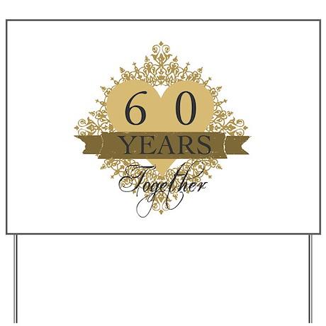 60th wedding anniversary yard sign by admin cp1519247 for 60 wedding anniversary symbol