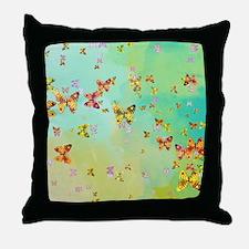 Butterflies on springtime Throw Pillow