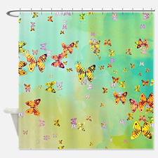 Butterflies on springtime Shower Curtain