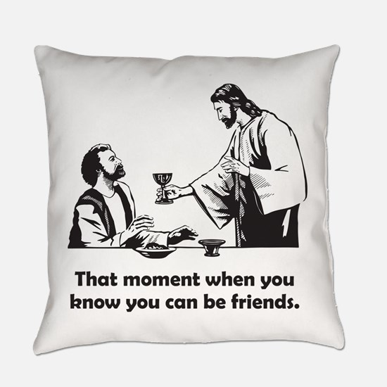 Jesus wine t-shirt Everyday Pillow