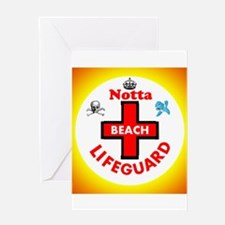 Notta Beach Lifeguard Greeting Cards
