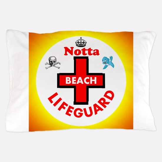 Notta Beach Lifeguard Pillow Case