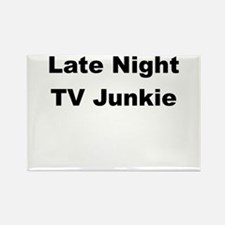 Late Night TV Junkie Rectangle Magnet