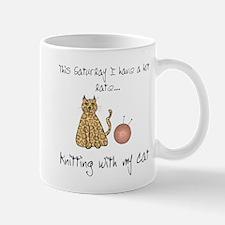 knitting cat 2.png Mugs