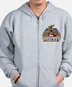 GOTG Team Retro Distressed Zip Hoodie