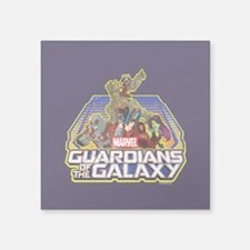 "GOTG Team Retro Distressed Square Sticker 3"" x 3"""