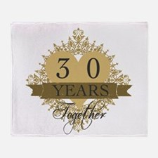 30th Wedding Anniversary Throw Blanket
