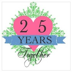 25th Wedding Anniversary Poster